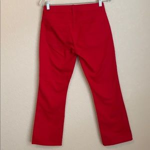 Talbots Red Signature Crop Flare Jeans